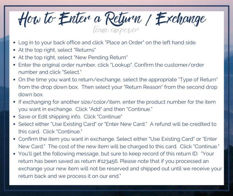 How to return_exchange